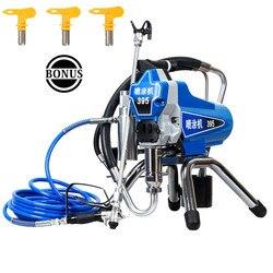 Profesional eléctrico sin aire pulverizador de pintura de pistón máquina de pintura 390 de 395 con motor de 2200W y venta de la fábrica directamente