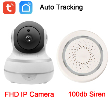 1080P Auto Tracking PTZ Security Linkage 100db Sound Alarm WIFI IP Camera Alexa Google Home Tuya Smart Life APP