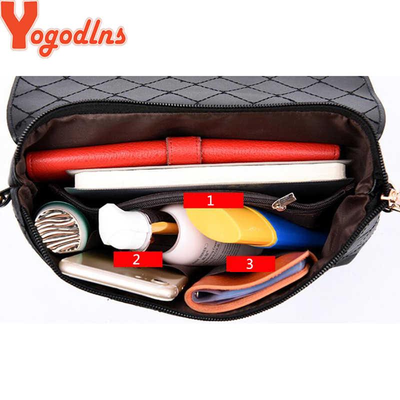 Yogodlns 2020 ใหม่ล็อคกระเป๋าไหล่Messenger Crossbodyกระเป๋าตาข่ายเพชรผู้หญิงJoker Leisure Bagสีดำ