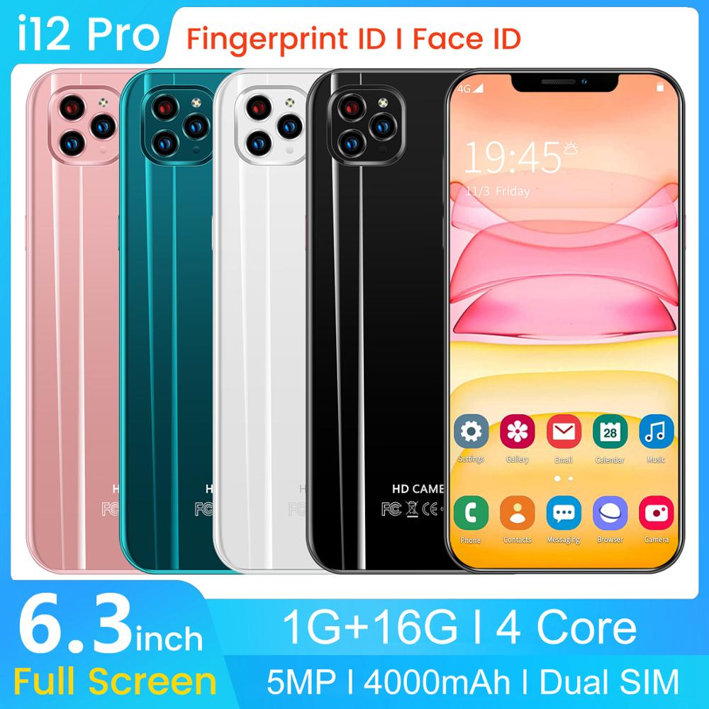 SAILF i12 pro Android 9.0 Octa Core Mobile Phone 6.3' FHD+ 18MP Triple Camera 3G RAM 32GB ROM Smartphone 4G gsm Global unlocked