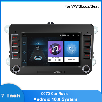 "Android Car Multimedia Player 2 Din 7 "" HD Screen Quad-core 1GB 16GB GPS Navigation Bluetooth Car Radio 60W Power For VW Skada image"