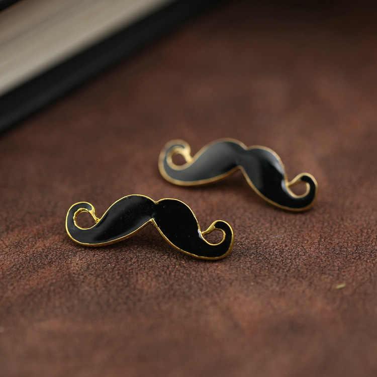 I-Remiel di Modo Moustache Barba Nera Spilla In Metallo Spille per la Camicia degli uomini del Vestito Dei Bambini Risvolto Carino Spilli e Accessori Spilla