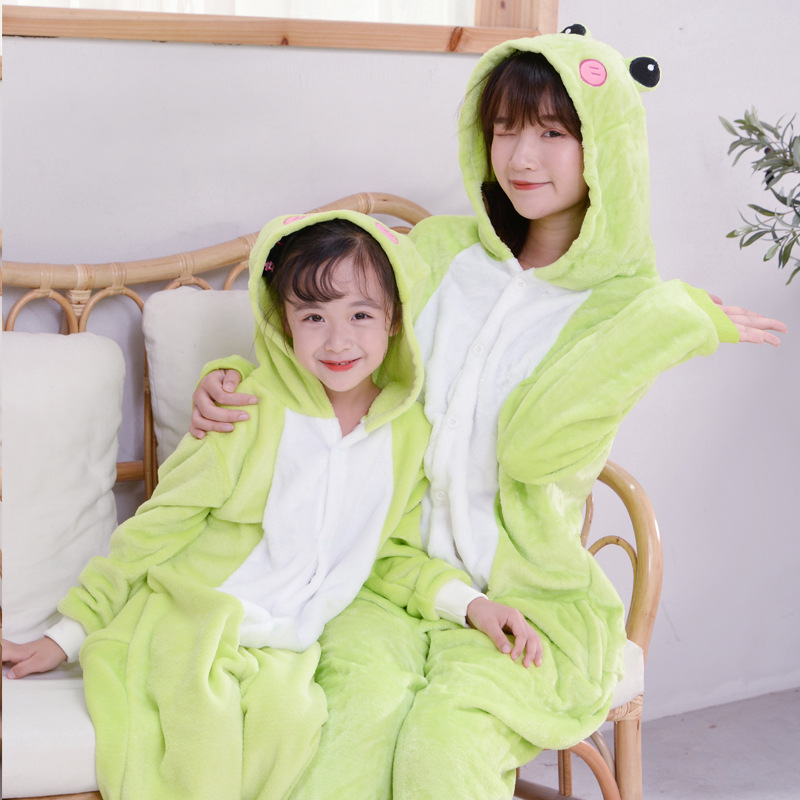 Green Frog Jumpsuit Animal Anime Cosplay Costumes Suits Boys/Girls Kids/adult Party Clothes Halloween Children's Day Gift 5