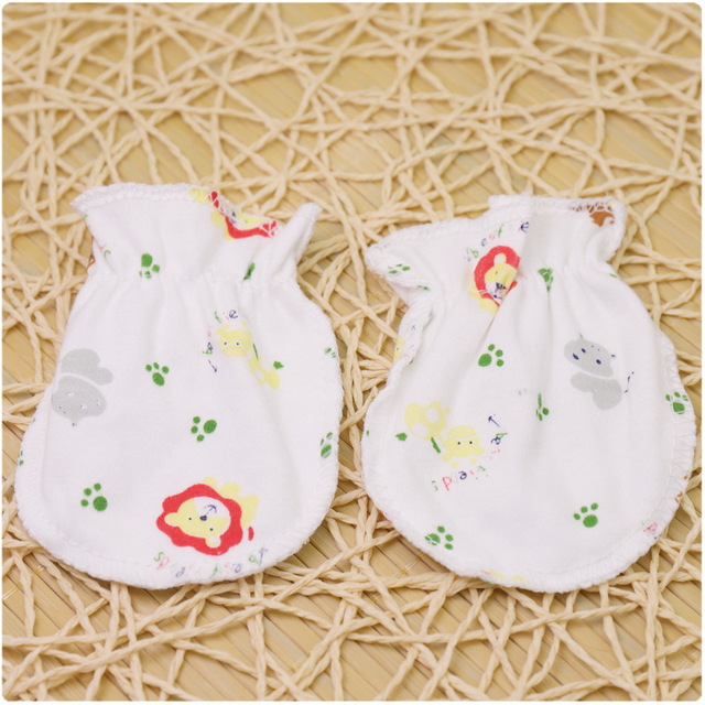 Qiuxiaoaa 3Pairs Fashion Baby Anti Scratching Handschuhe Neugeborenen Schutz Gesicht Cotton Scratch Mittens Baby Handschuhe Gelb
