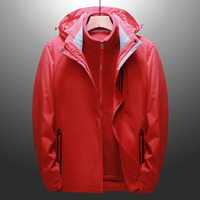 Sports Outdoor Waterproof Jacket Three in One Piece Windproof Breathable Mountaineering Team Men and Women
