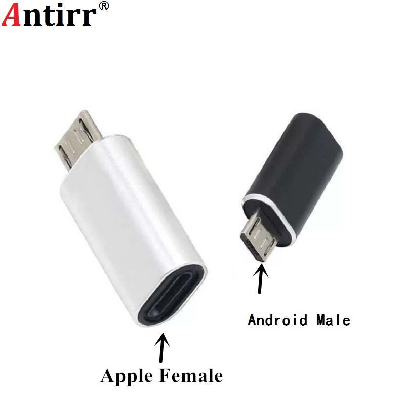 8Pin Lightning Cable To Micro USB Male Adapter Connector For Samsung Xiaomi Huawei Android Cellphone Tablet PC
