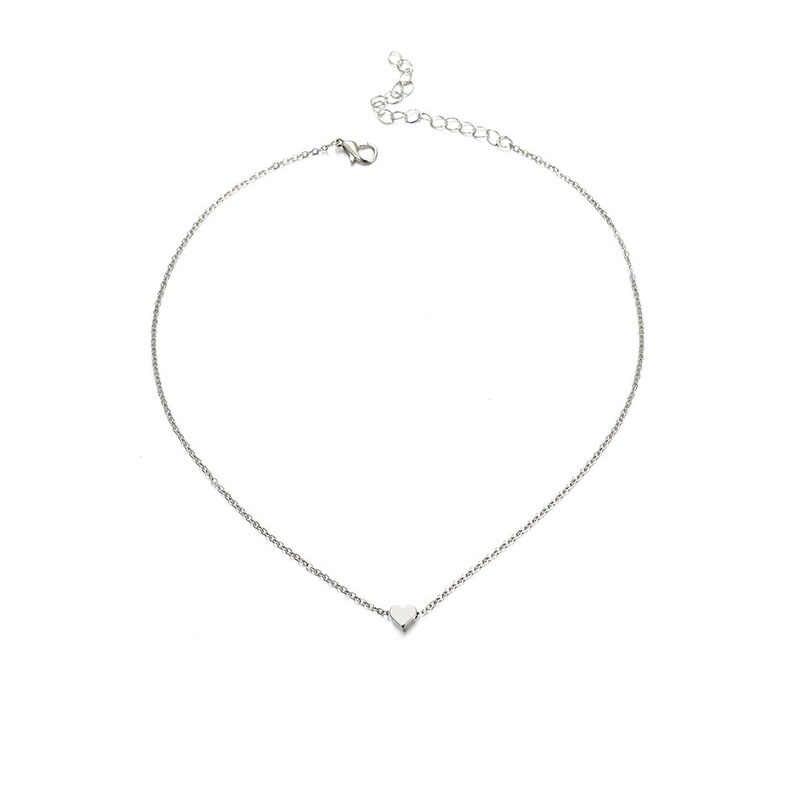 Yeni moda kalp denizyıldızı şekli gümüş altın renk çok katmanlı uzun kolye düğün yazılı kolye kolye kadınlar takı