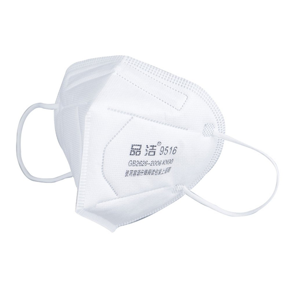 Kn90 Masks Disposable Non-Woven Masks Anti-Haze 5-Layer Filter Mask Labor Insurance Folding Industrial Dust Mask 10Pcs