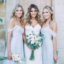 Aoligrace Bridesmaid Dresses Off Shoulder Folds Open Back Co