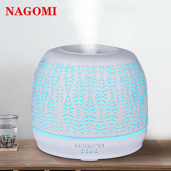 500ml Aromatherapy Essential Oil Diffuser White Iron Handmade Ultrasonic Air Humidifier 7 Color Light Change For Home SPA 3 4 6 9 12 15 grids wooden essential oil natural pine wood aromatherapy boxes 5 15ml for home decor handmade crafts
