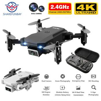 цена на SHAREFUNBAY T1 drone 4k HD wide angle camera 1080P WiFi fpv drone dual camera height keeping drone with camera rc quadcopter