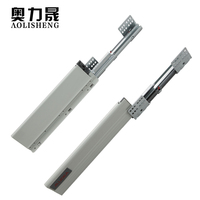 35KG Heavy Load full extension double wall self closing gently drawer rail guide kitchen cabinet