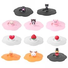 Cup-Cover Silicone Transparent Household Reusable Cartoon Leakproof Clear Tea-Lid Dust-Prevention-Lid