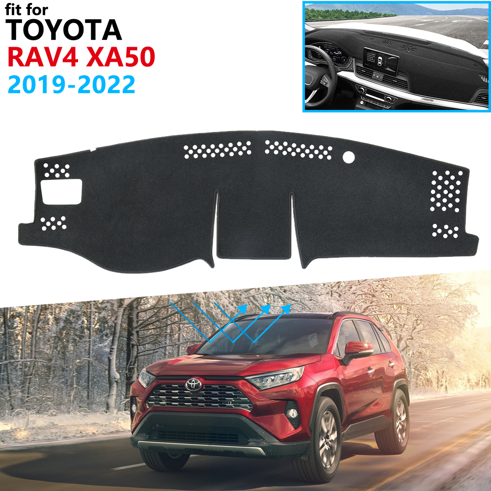 Dashboard Cover Protective Pad for Toyota Rav4 XA50 2019 2020 RAV 4 XA 50 Car Accessories Dash Board Sunshade Carpet Dashmat