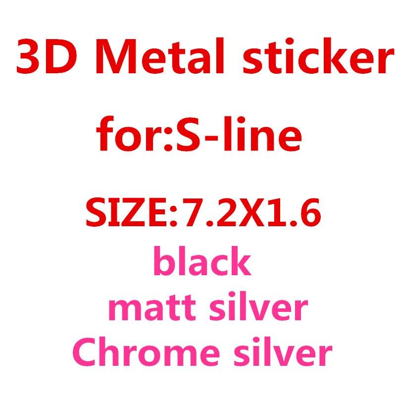 1pcs New Metal Auto Car Chrome Matt Silver Black Badge For Audi S Line Sline A4 S4 RS4 A6 TT A3 Emblem Badge Sticker