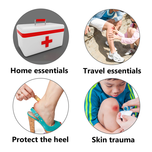 100pcs Waterproof Bandages First Aid Hemostasis Band-Aid Stickers Medical Plaster Wound Patches Emergency Kit H050 2