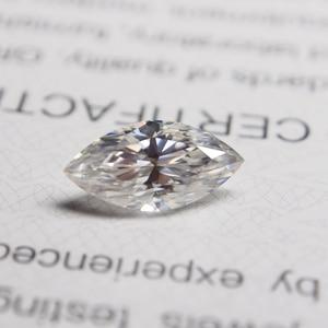 5*10mm marquise coupe blanc Moissanite pierre Moissanite en vrac diamant 0.9 carat pour bague de mariage