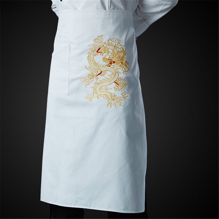 Catering 2020 News Apron Chinese Style Dragon Men Embroidery Chef Jacket Form Cook Categories Women Bakery Tunic Cook Bakery