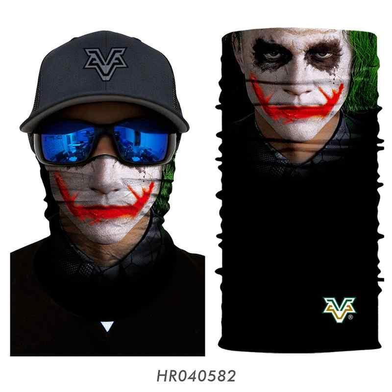 3D Marvel DC Motocicleta Máscaras Ironman Venom Joker Batman Superhero Franken Gaiter Pescoço Bandana Sem Costura Tubo Balaclava Ski