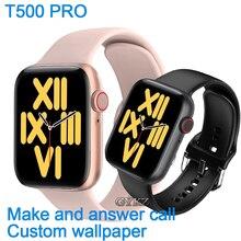IWO 12 T500 PRO carta da parati personalizzata Bluetooth elettronico chiamata Smart Watch uomo IWO cardiofrequenzimetro smartwatch per donne Android