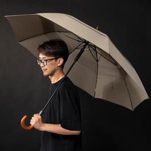 Image 2 - Guarda chuva grande paraquase, guarda chuva para homens e mulheres, dupla camada de prova de vento, 8 aro de madeira, cabo longo, guarda chuva automático forte