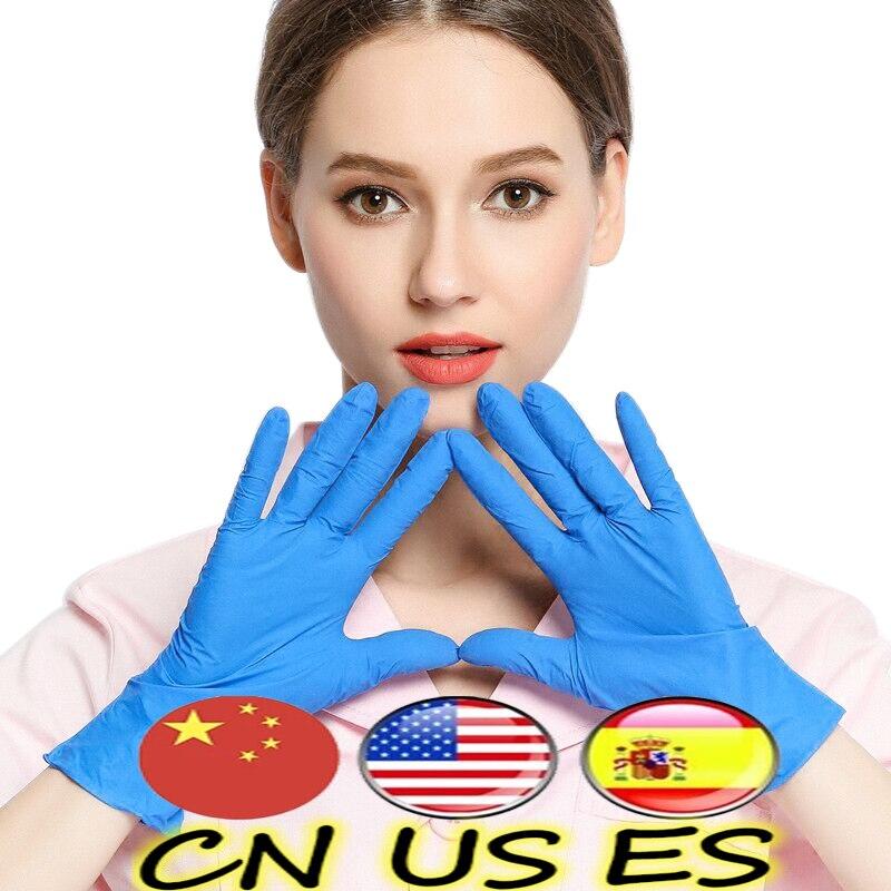 50PCS Durable Disposable Gloves Latex Black Universal Nitrile Kitchen Gloves Dishwashing Safety Work Rubber Garden Gloves