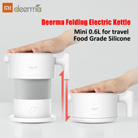 Xiaomi Deerma 0.6L Mini Folding Electric Kettle Portable Water Flask Pot Auto Power Off Protection Kettle quick boiling