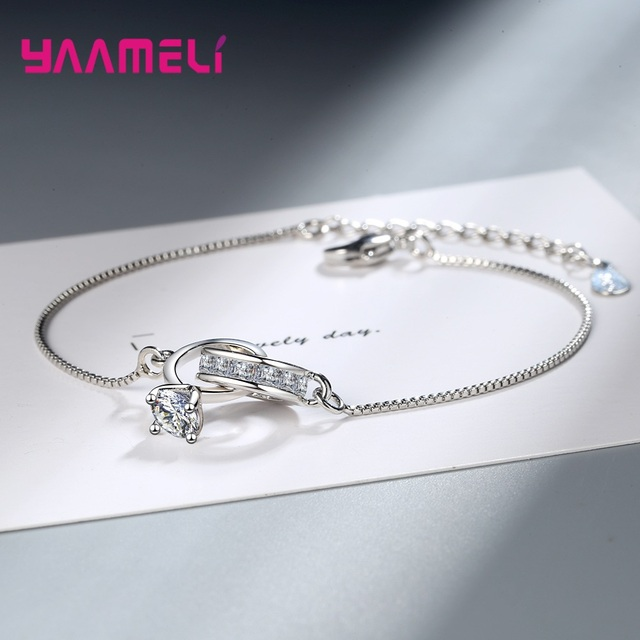 Silver Women Crystal Bow-Knot Bracelet Bangle Love Wedding Bridal Jewel Valentines Day Anniversary Souvenir Gifts for Wife Girlfriend Mother Sweet Full Diamond Butterfly Bracelet