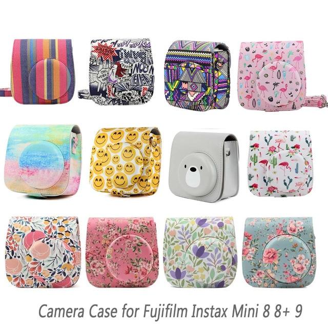 Besegad PU Leather Protective Camera Bag Holder Pouch Case for Fuji Fujifilm Instax Mini 8 9 11 Instant Cameras Case Accessories