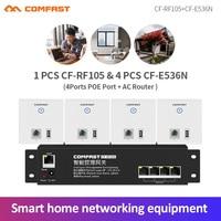 4 adet 300Mbps duvar AP kablosuz erişim noktası 2 * 2dbi RJ45 Usb Wifi ap + 1 AC wifi yönlendirici ağ geçidi otel Villa PUB şirketi