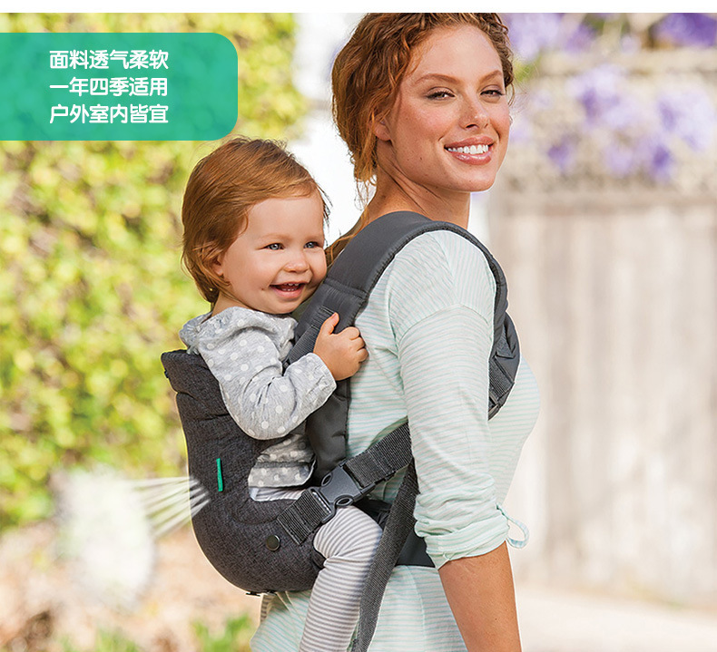 0-36M Baby Carrier Ergonomic Baby Hipseat Carrier Front Facing Kangaroo Baby Wrap Carrier Infant Sling Infant Hipseat Waist (gray OneSize)