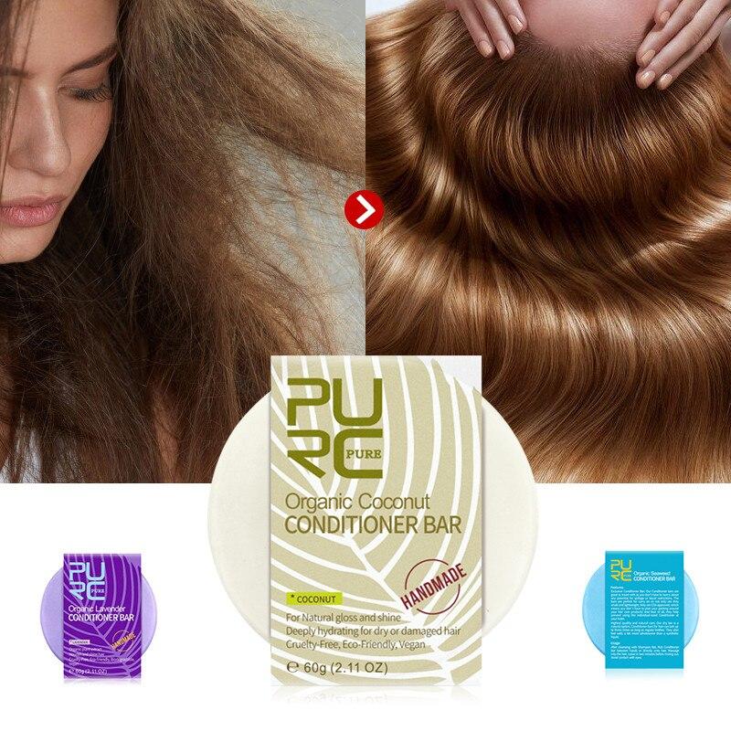 Seaweed Conditioner Bar Shampoo Soap Long Hair Handmade Repair Damage Frizzy Hair Repairing Moisturizing Smooth Hair Care Soap