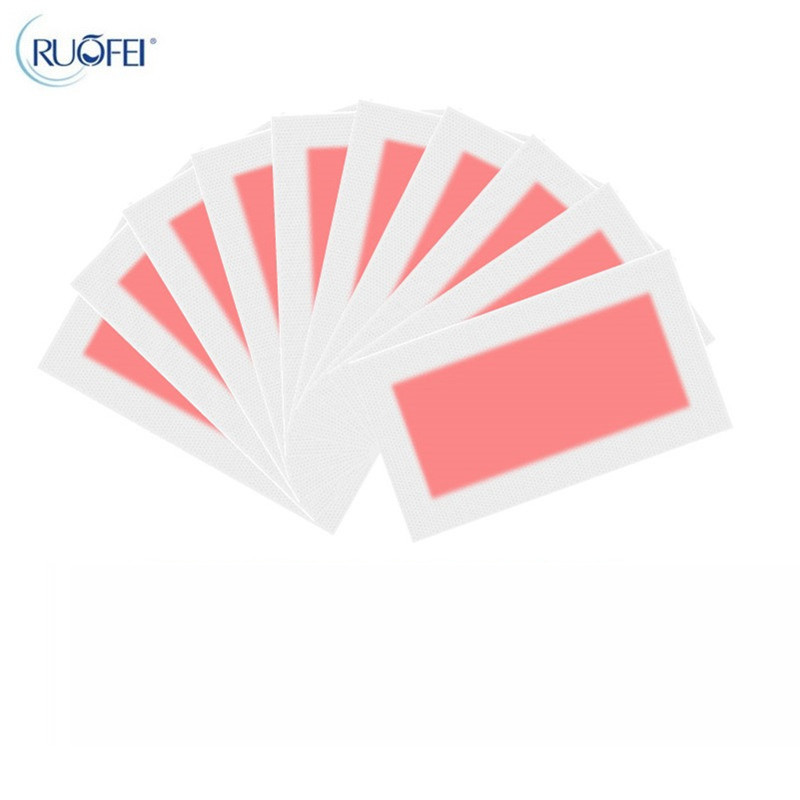 10pcs=5sheets Red Color Removal Depilatory Nonwoven Epilator Wax Strip Paper Pad Patch Waxing For Face / Legs / Bikini