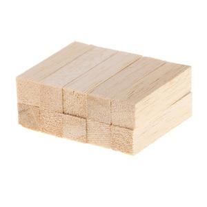 10pcs 50/80mm Premium Basswood Wood Carving Blocks Kit Square Balsa Wood Stick Block Unfinished Woodcraft Dowel Rod(China)