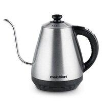 1L Gooseneck Kettle Electric Kettle Adjustable Temperature Insulation Stainless Steel Drip Coffee Maker Tea Teapot 220V