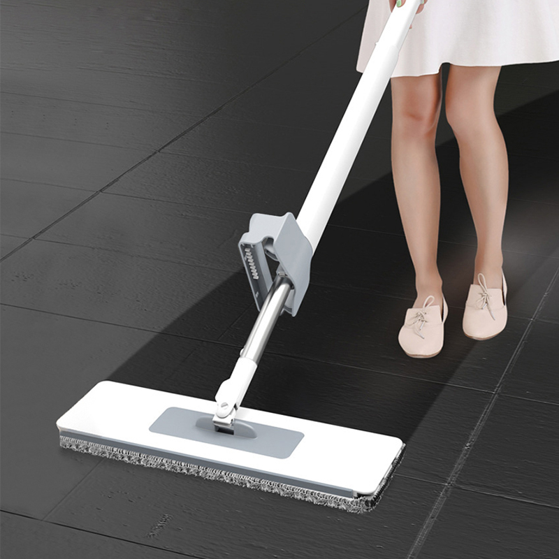 Self-Wringing Flat Mop Free Hand Washing Magic Mop Automatic Spin 360 Rotating Wooden Floor Mop Cleaner Household Cleaning Tool(China)