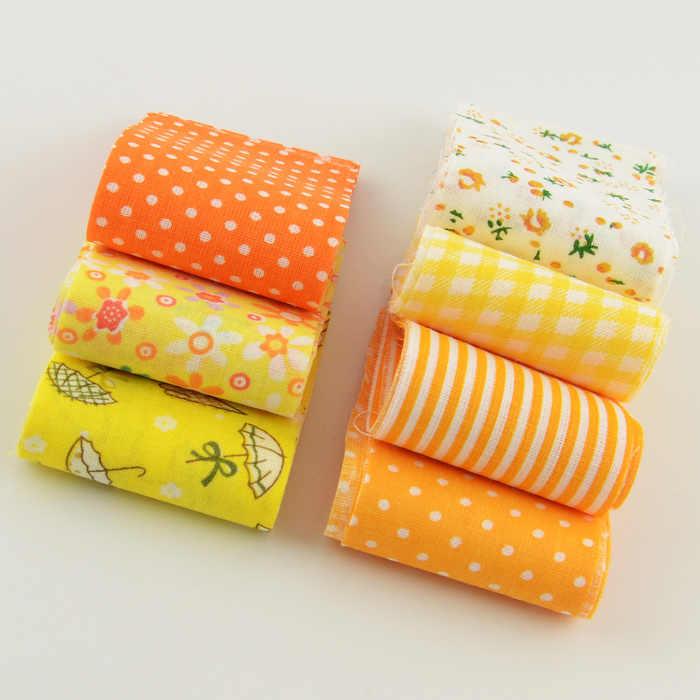 100% tessuto di cotone strisce giallo tema set di 5cm x 100cm 7 pz/lotto rotolo di gelatina per cucire giocattoli tildas quilting patchwork artigianato