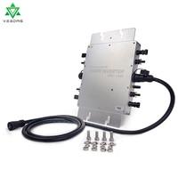 1400W Waterproof Solar Grid Tie Micro Inverter WVC1400 Microinverter Inversor Pure Sine Wave Solar Inverter 22 50VDC 80 280VAC