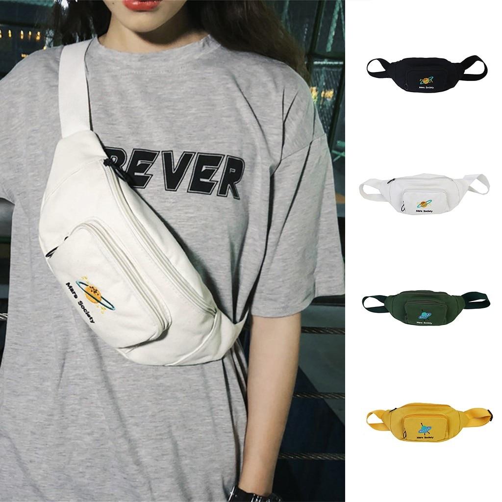 New Fashion Waist Bags 2019 Cute Student Waist Bag Satchel Casual Wild Simple Shoulder Messenger Bag Chest Phone Pouch#G2