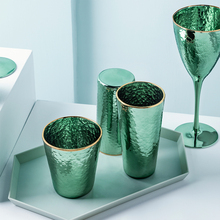 Green Beer Glass Cup Creative Crystal Water Juice Tea Cup Glass Wine Glass Champagne Glass Mug Drinking Glasses Bar Pub Party
