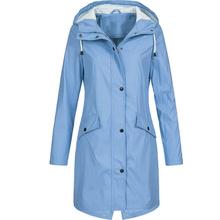 Nowe damskie kurtki przeciwdeszczowe kurtki przejściowe zachody słońca długie jesienne zimowe wiatrówki wodoodporne sportowe kurtki turystyczne 2020 tanie tanio Dihope Poliester Solid Color Casual Jacket M144993
