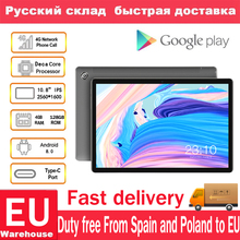 Teclast M18 4G Phone Call Android 8.0 10.8 Inch Helio X27 2.6GHz Deca core CPU 4GB RAM 128GB ROM 13.0MP+5.0MP Type-C Tablet PC