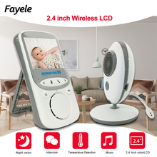 Bezpieczeństwo w domu przenośny 2.4 Cal wyświetlacz LCD bezprzewodowy niania elektroniczna Baby Monitor kolorowe wideo kamery niania domofon IR Bebe Cam WalkieTalkie opiekunka do dziecka