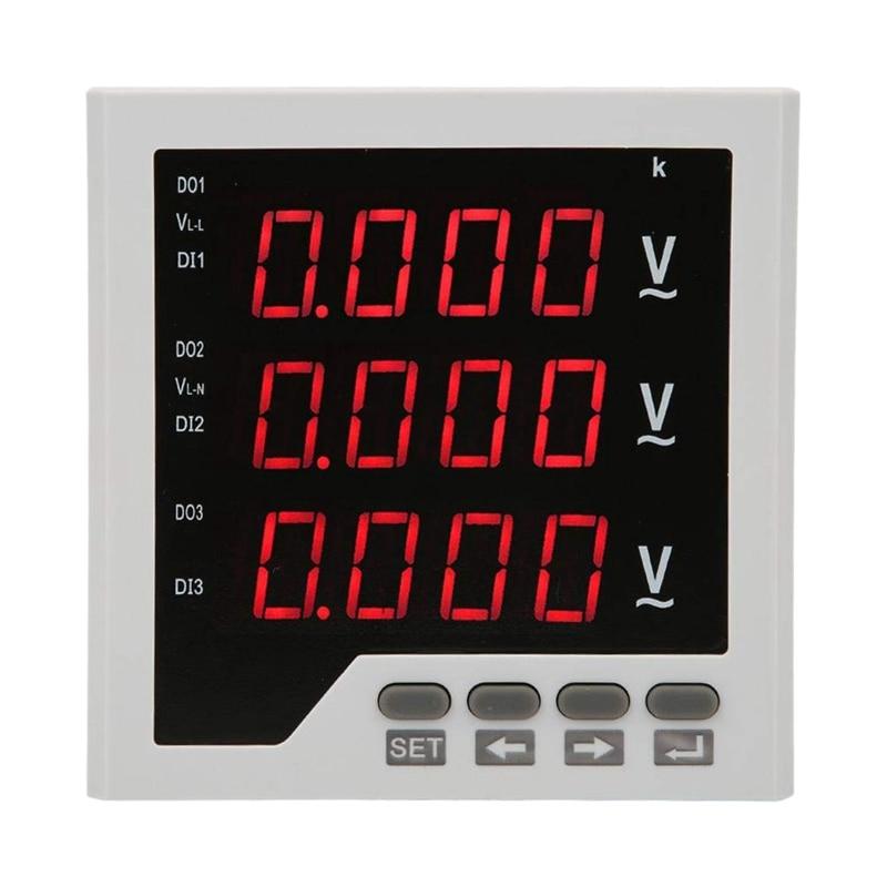AMS Voltage Detector DTM AV96 3 Phase Voltage Meter Programmable LED Digital Display Voltmeter AC 450V|Battery Accessories| |  - title=