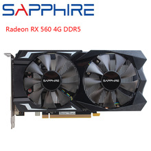 Graphics-Card Gaming Sapphire Amd Radeon Rx RX560 Computer GDDR5 Desktop PCI 128bit 4GB