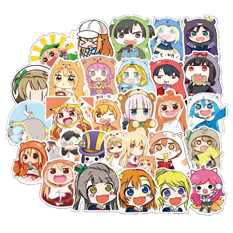 50Pcs Anime Himouto Umaru-chan Cartoon Lovely Stickers Toys Luggage For Motor Car Suitcase Fashion Laptop Decals Stickers