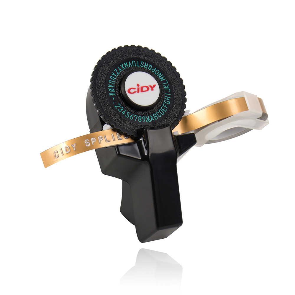 Máquina de grabado en relieve 3D negro para MOTEX E101 versión actualizada C101 Mini máquina de escribir Manual para 9mm cinta de etiquetas 3D