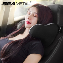 Universalรถคอหมอนหน่วยความจำโฟมนุ่มHeadrestสินค้าอัตโนมัติหัวคอRest Padสำหรับเดินทางอุปกรณ์ตกแต่งภายในรถยนต์