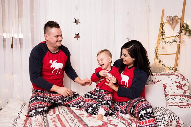 Family Christmas Pajamas Set Warm Adult Kids Girls Boy Mommy Sleepwear Nightwear Mother Daughter Clothes Matching Family Outfits 5