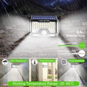 Image 3 - Lampe LED avec capteur de mouvement, à énergie solaire, étanchéité 128/268, éclairage de sécurité extérieur pour porche/jardin/rue/applique murale